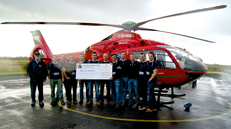 wales air ambulance cheque presentation pic1